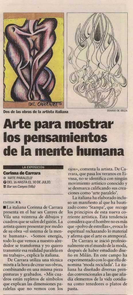 1 press_Corinna Carrara_ Diario di Ibiza_ 16.07.08