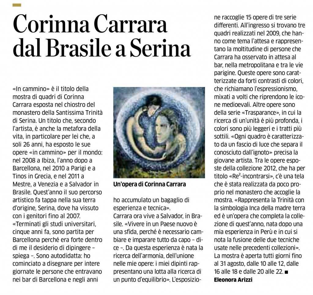 11 press_Corinna Carrara dal brasile a Serina_Eco Di Bergamo_13.08.12